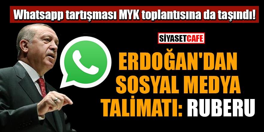 Erdoğan'dan sosyal medya talimatı: Ruberu! Ruberu ne demek?