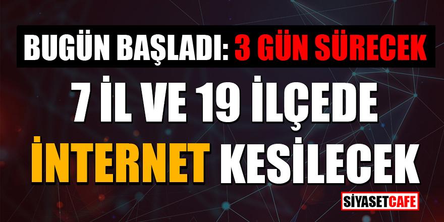 Telekom'dan önemli duyuru: 12-13-14 Ocak 2021'de 7 İl ve 19 ilçede internet kesilecek