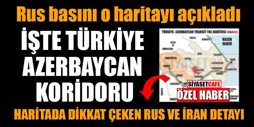 Azerbaycan-Türkiye koridoru haritası yayınlandı: Rusya ve İran detayı dikkat çekti