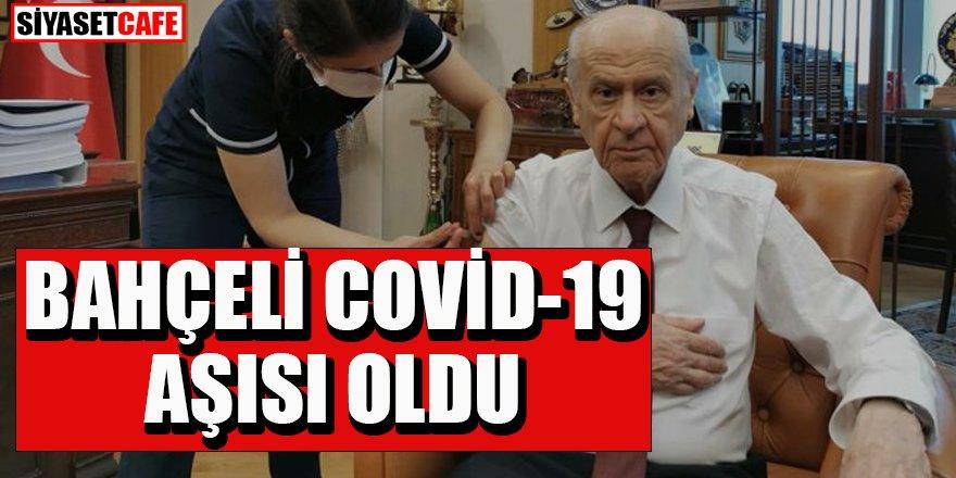 MHP Genel Başkanı Bahçeli Covid-19 aşısı yaptırdı