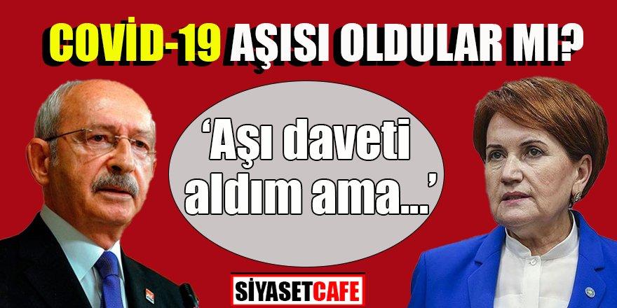 Kılıçdaroğlu ve Akşener'den aşı açıklaması
