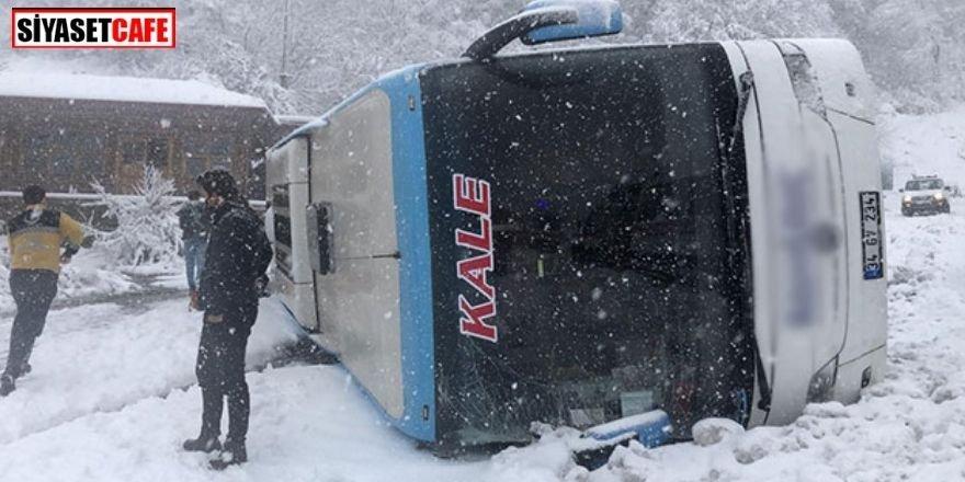 Zonguldak'ta yolcu otobüsü devrildi: 10'dan fazla yaralı