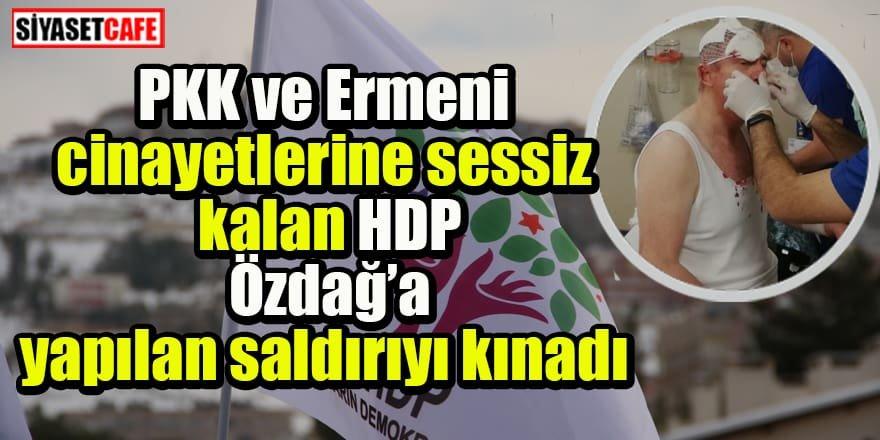 PKK ve Ermeni cinayetlerine sessiz kalan HDP Özdağ'a yapılan saldırıyı kınadı