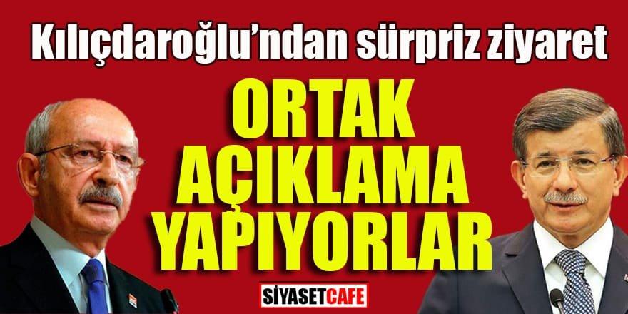 Kılıçdaroğlu'ndan sürpriz Davutoğlu ziyareti