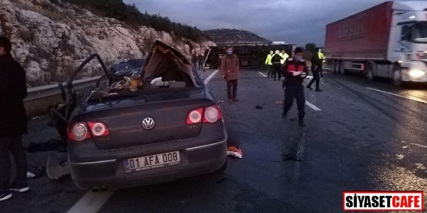 Mersin'de feci kaza: 5 ölü, 1 ağır yaralı