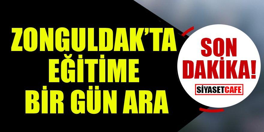 Son dakika: Zonguldak'ta eğitime bir gün ara!