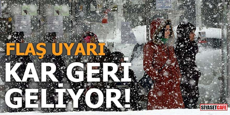 İstanbul dahil yurdun büyük bölümüne kar yeniden geliyor