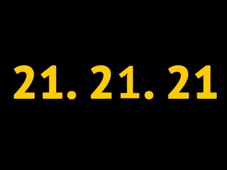 """""""21.21.21"""" mesajları sosyal medyaya damga vurdu"""