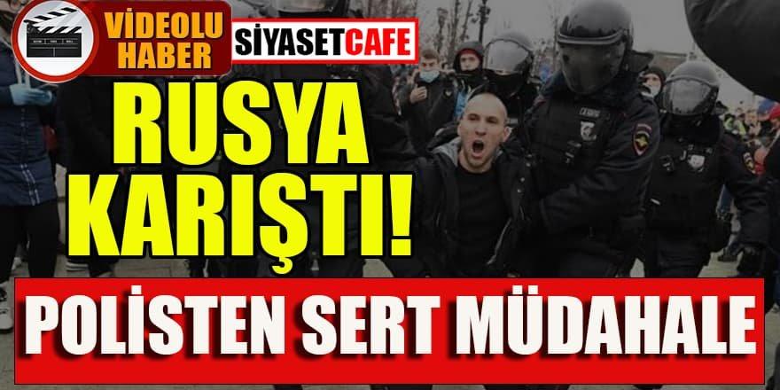 Rusya sokakları karıştı! 'Hırsız Putin' sloganları