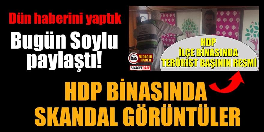 Bakan Soylu paylaştı! HDP binasında skandal görüntüler