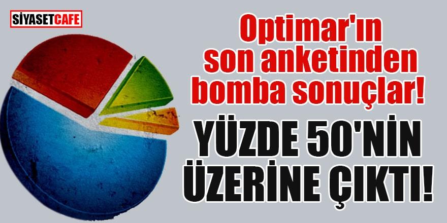 Optimar'ın son anketinden bomba sonuçlar! Cumhur İttifakı'nın oy oranı yüzde 50'nin üzerine çıktı