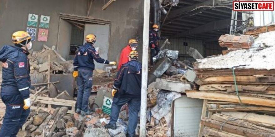 Mobilya fabrikasında patlama: 1 ölü, 6 yaralı