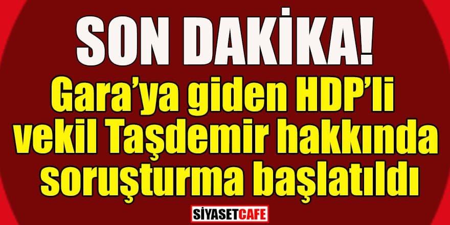 HDP'li vekil Dirayet Dilan Taşdemir hakkında soruşturma