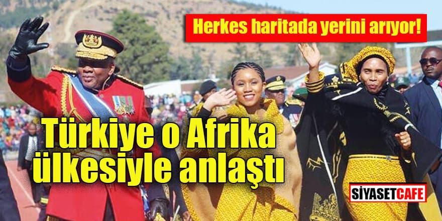 Türkiye Lesoto işbirliği anlaşması