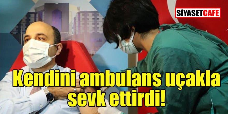Ambulans uçakla Ankara'ya gelen İl Sağlık Müdürü'ne AKP bile tepki gösterdi