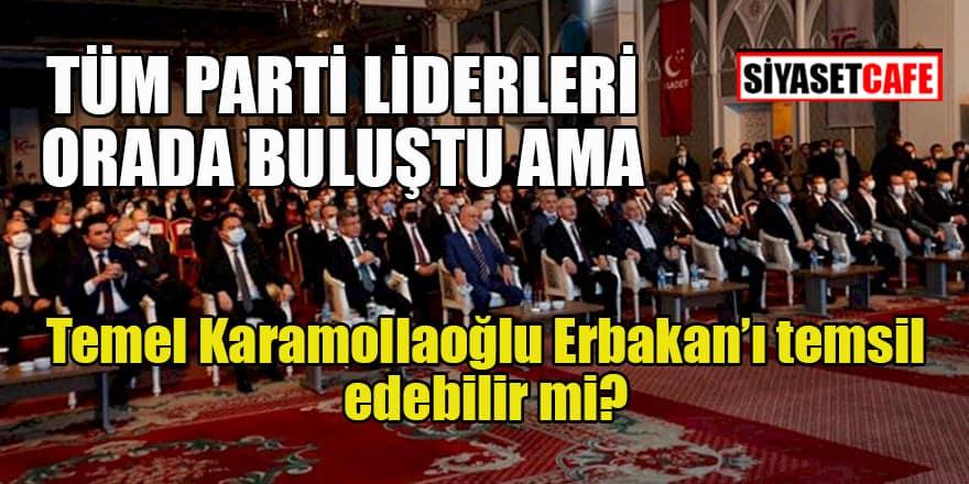Parti Genel Başkanları Necmettin Erbakan anmasında buluştu