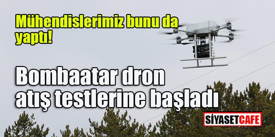 Türkiye'de ilk milli silahlı dron sistemi 'Songar' geliştirilerek bomba atara dönüştürüldü.