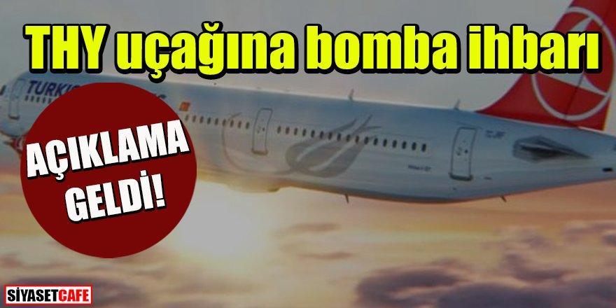 Son dakika: THY uçağına bomba ihbarı
