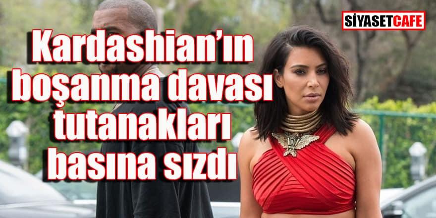 Kardashian'ın boşanma davası mahkeme tutanakları basına sızdı