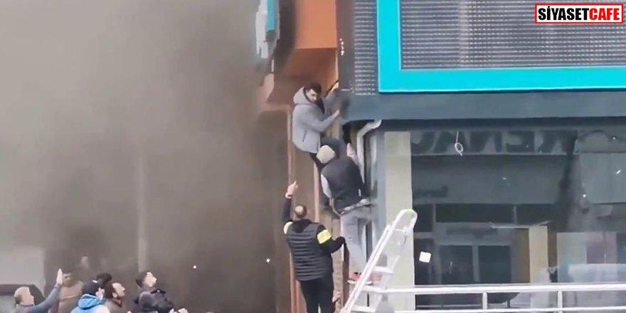 Fabrikada yangın: Bir işçi son anda kurtarıldı