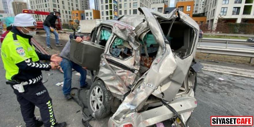 Haramidere TEM Bağlantı yolunda kaza: 5 yaralı