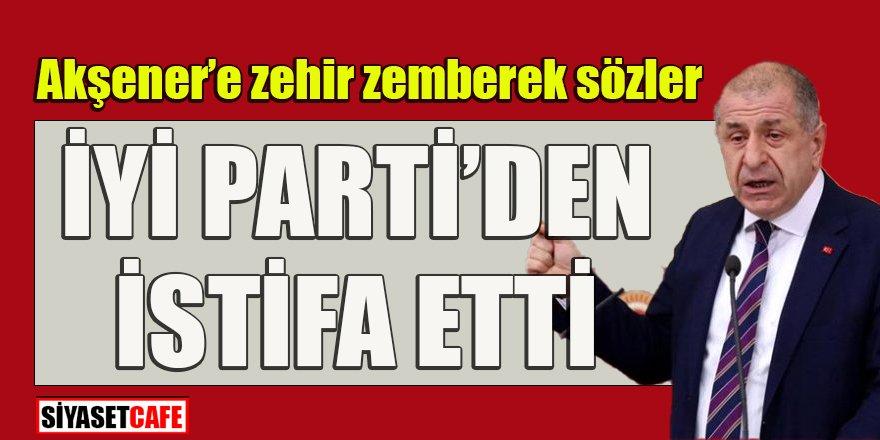 Son dakika! Ümit Özdağ'ın istifa konuşması: İYİ Parti CHP'nin uydusu haline geldi