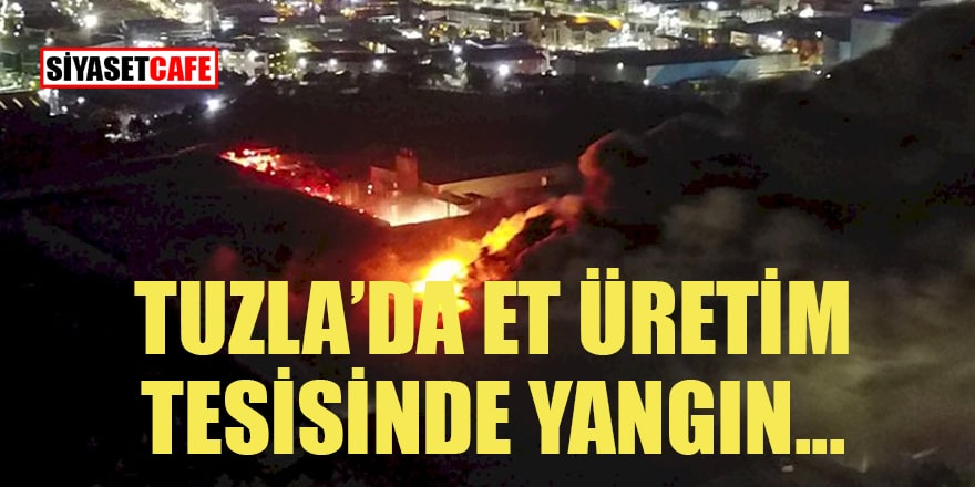 Tuzla'da Et üretim tesisinde yangın çıktı... Sorumluları basına saldırdı