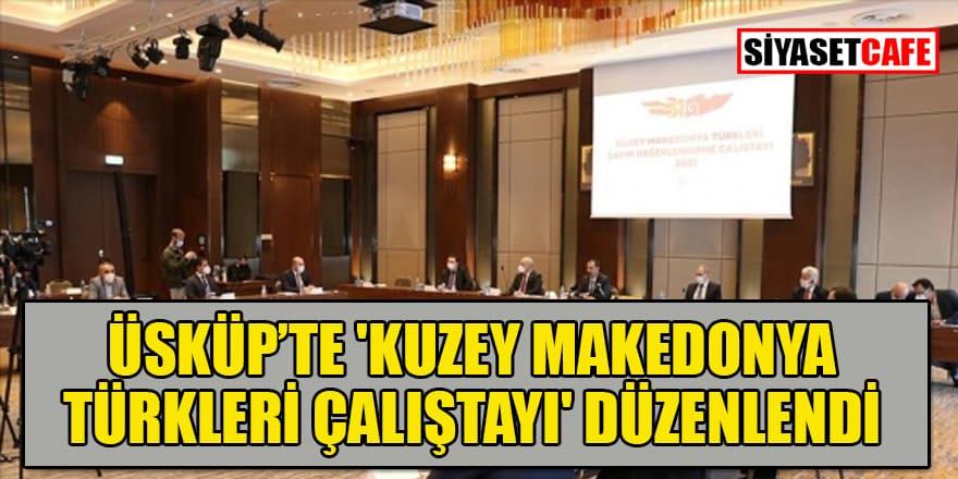 Üsküp'te 'Kuzey Makedonya Türkleri Çalıştayı' yapıldı