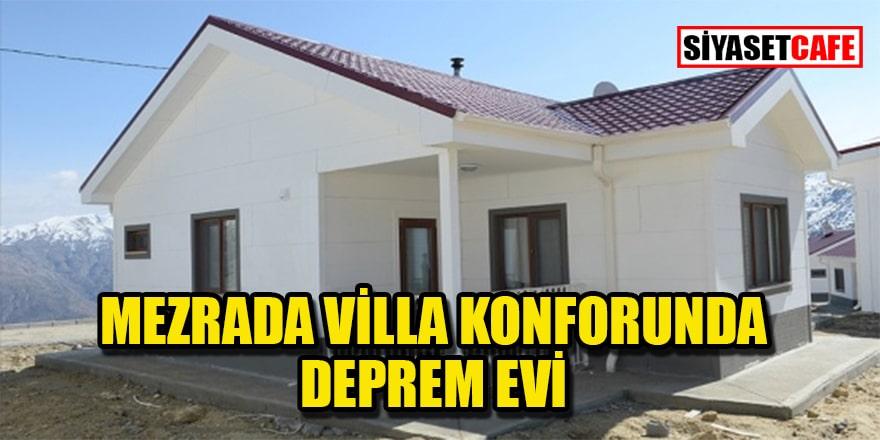 Villa gibi deprem evleri sahiplerine teslim edildi