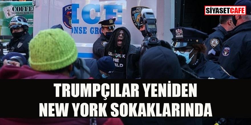 Trumpçılar yine hareketlendi New York sokakları karıştı