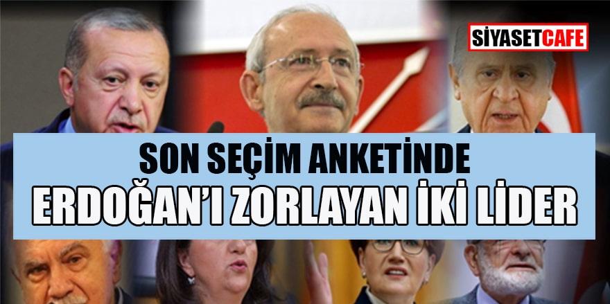 Şubat ayı araştırmasında Erdoğan'ı zorlayan iki lider