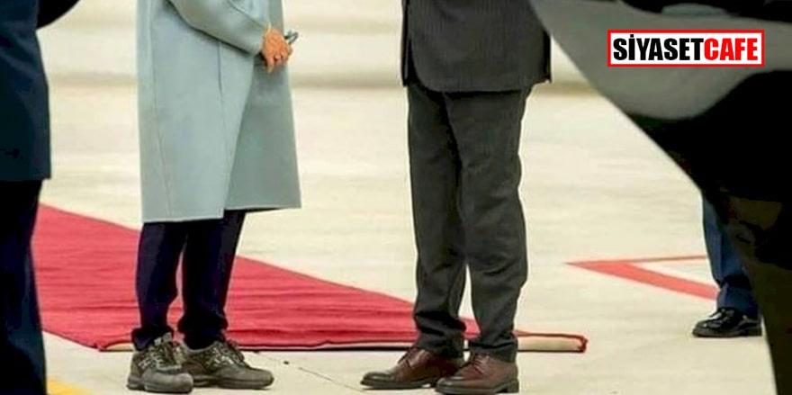 Rodos'u ziyaret eden Yunanistan Cumhurbaşkanının ayakkabısı alay konusu oldu