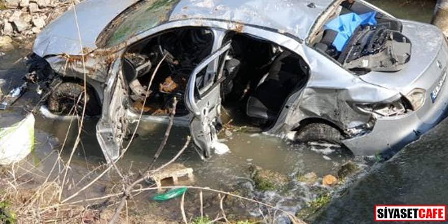 Otomobil dereye uçtu: 3 ölü, 2 yaralı