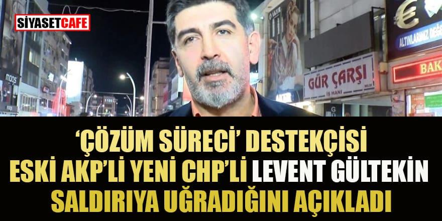 Gazeteci Levent Gültekin saldırıya uğradığı halde programına devam etti