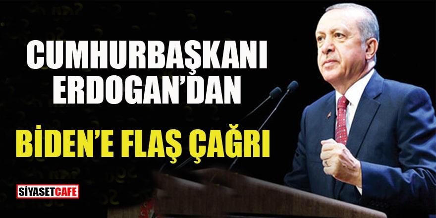 Cumhurbaşkanı Erdoğan'dan Biden'e mesaj