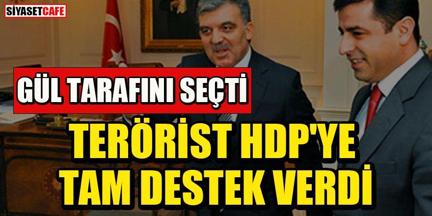Abdullah Gül terörist HDP'ye tam destek verdi