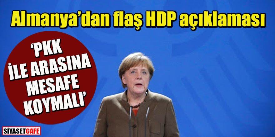 Almanya'dan flaş açıklama: HDP'ye PKK çağrısı