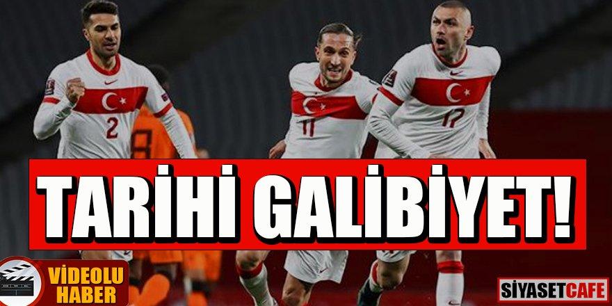 Milli maç heyecanı: Türkiye 4-2 Hollanda