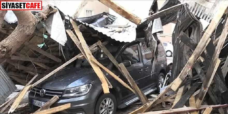 Muş'ta şiddetli fırtına: 50 evin çatısı uçtu