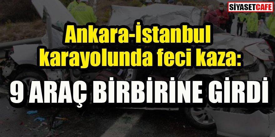 Ankara'da zincirleme trafik kazası: 9 araç birbirine girdi