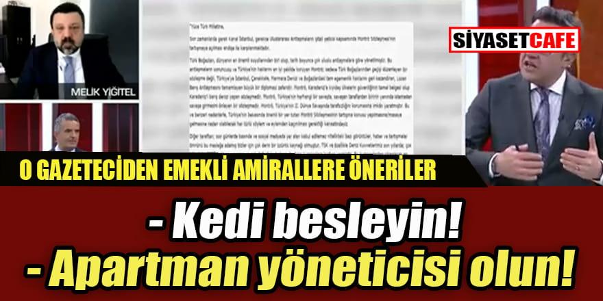 CNNTürk'teki programda emekli amirallere ilginç öneriler