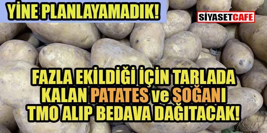 Çiftçinin elinde kalan patates ve kuru soğan Ramazan'da bedava dağıtılacak