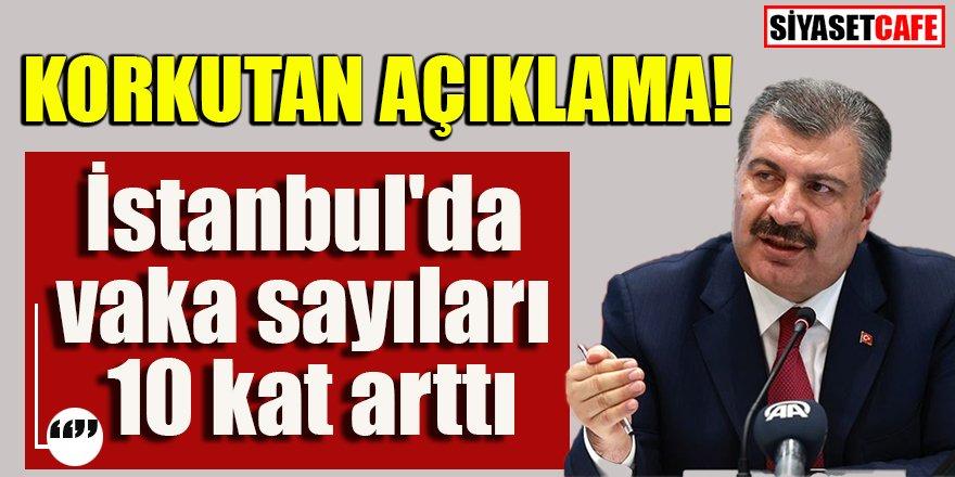 Bakan Koca: İstanbul'da vaka sayıları 10 kat arttı