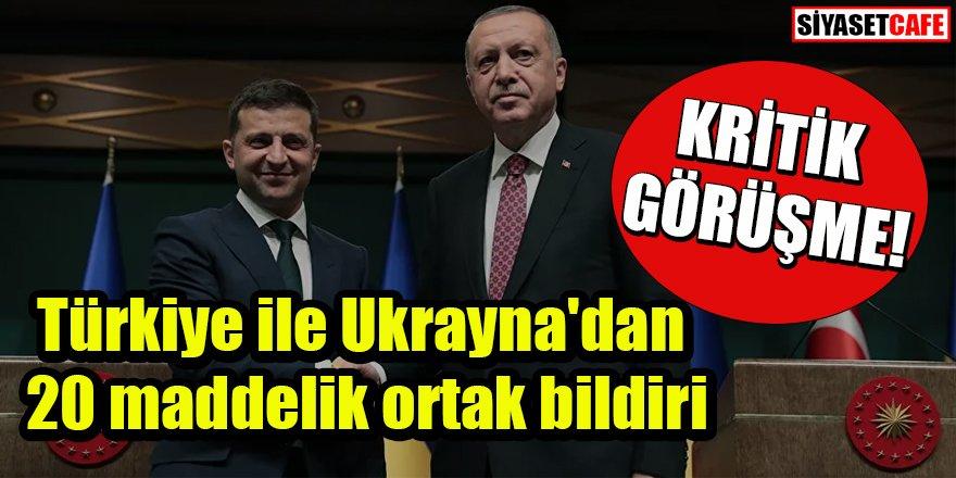 Türkiye ve Ukrayna arasında önemli görüşme