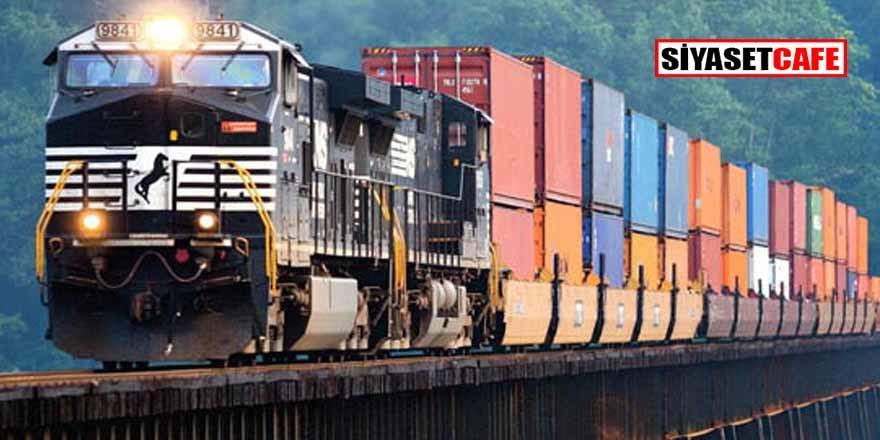 Demiryolu taşımacılığında büyük artış