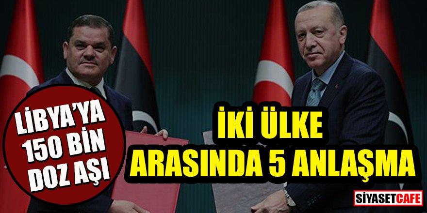 Türkiye ile Libya arasında 5 anlaşma