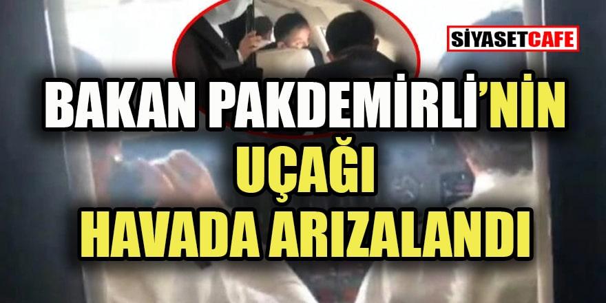 Bakan Pakdemirli'nin uçağı havada arızalandı acil olarak indi