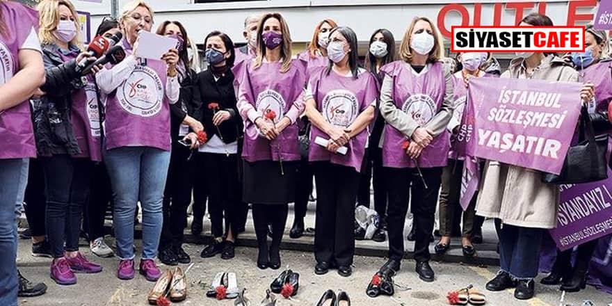 CHP'li kadınlardan 'mor adımlar'