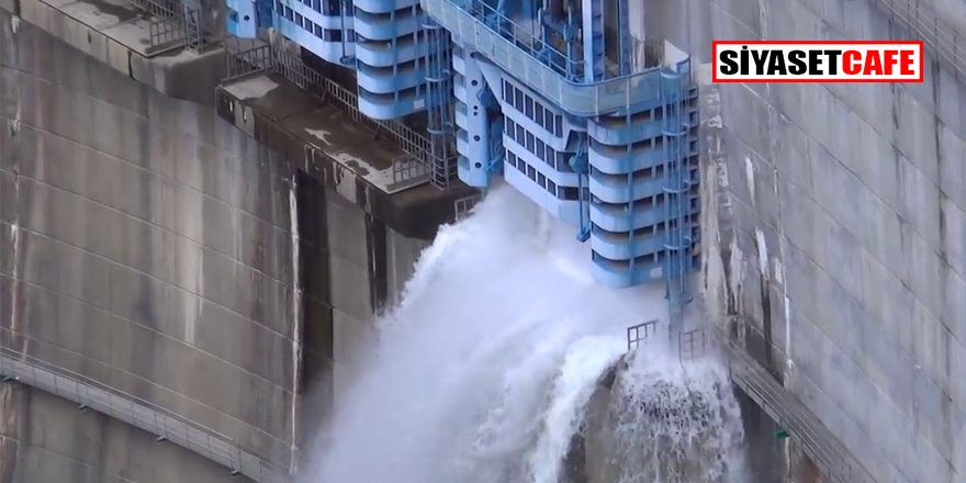 O barajın kapakları açıldı! Doluluk oranı yüzde 99