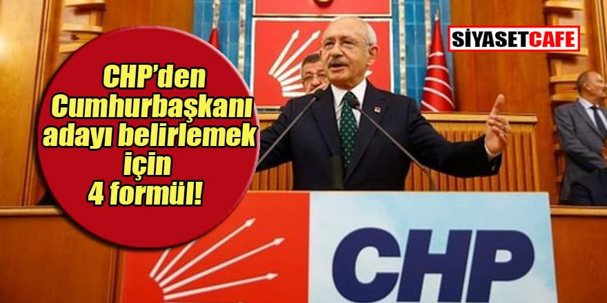 CHP'den Cumhurbaşkanı adayı saptama için dört formül